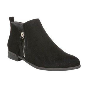 Dr. Scholl's Womens Rate Zip Up Ankle Boots Black